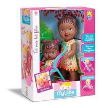 Boneca Baby Little Collection Alive Tal Mãe Tal Filha Negra - Divertoys