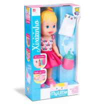 Boneca Baby My Little Collection Alive Faz Xixi Loira 35cm - Divertoys 647