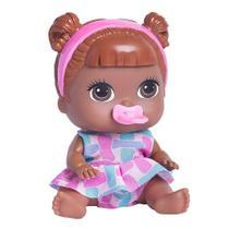 Boneca babys collection mini negra carrinho - super toys 348 -