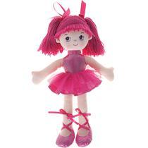 Boneca Bailarina Glitter Fucsia - Buba - Buba toys