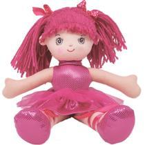 Boneca Bailarina Glitter P Pink Buba -