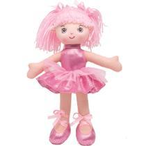Boneca Bailarina Glitter P Rosa Buba -