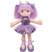 Boneca Bailarina Glitter P Roxa Buba -