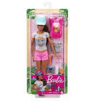Boneca Barbie Articulada Aventureira Caminhada C/ Pet Mattel -