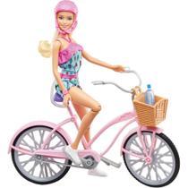 Boneca Barbie Articulada C/ Bicicleta Ftv96 - Mattel -