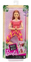 Boneca Barbie Articulada Ruiva GXF07 - Made to Move - Mattel -