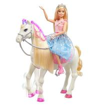 Boneca Barbie Aventura Princesas E Cavalo GML79 MATTEL -