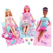 Boneca Barbie Aventura Princesas Festa Do Pijama Mattel -