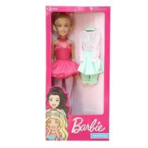 Boneca Barbie Bailarina Grande 65 cm Articulada Pupee -
