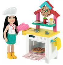 Boneca Barbie Chelsea Profissões Pizzaria - Mattel