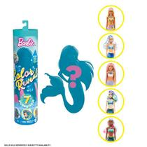 Boneca barbie color reveal sereia 7 surpresas - mattel -
