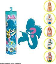 Boneca Barbie Color Reveal Sereia 7 surpresas Série 4 - mattel -