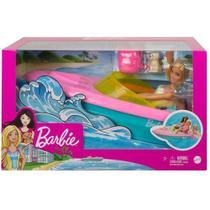 Boneca Barbie com Barco Mattel GRG30 -