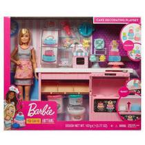 Boneca Barbie Cozinha Chef Dos Bolinhos Doces Mattel Gfp59 -