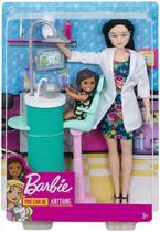 Boneca Barbie Dentista Morena Mattel -