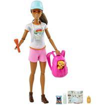Boneca Barbie dia de Caminhar com Cachorrinho Mattel - GJG66 -