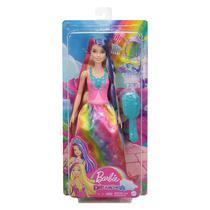 Boneca Barbie Dreamtopia Princess Penteados - Mattel GTF37 -