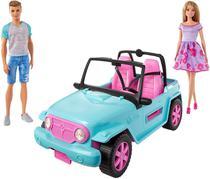 Boneca Barbie e Boneco Ken com Automóvel - Off-Road - Mattel -