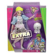 Boneca Barbie Extra Articulada Cabelo Colorido Com Pet - Mattel