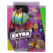 Boneca Barbie Extra Articulada Negra Com Pet Mattel -
