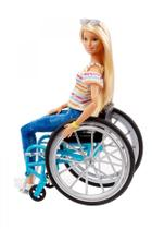 Boneca Barbie Fashionista Cadeira De Rodas Loira - Mattel -
