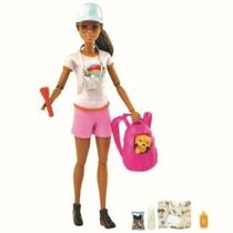 Boneca Barbie Fashionista Dia De Spa Cachorro GRN66 Mattel -
