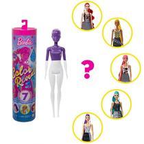 Boneca Barbie Fashionista Estilo Surpresa - Color Reveal - Série Monocromática - Mattel -