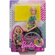 Boneca Barbie Fashionista Loira Cadeirante Mattel -