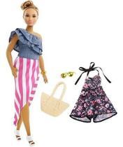Boneca Barbie Fashionista Morena Com Roupinhas e Acessórios Modelo 102 Mattel -