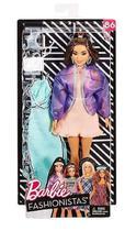 Boneca Barbie Fashionista Morena Número 86 Moda - Mattel -