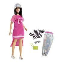 Boneca Barbie Fashionista Oriental Cabelo Curto Com Roupinhas e Acessórios Modelo 101 Mattel -