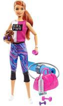 Boneca Barbie Fashionista Um Dia De Spa Fitness Mattel GJG58 -