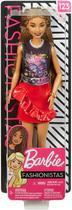 Boneca Barbie Fashionistas 123 cabelo longo trançado - Mattel