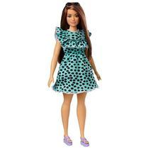 Boneca Barbie Fashionistas 149 Morena Vestido Verde - Mattel -