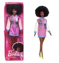 Boneca Barbie Fashionistas 156 - Nova embalagem no Estojo Plástico - Mattel -