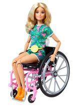 Boneca Barbie Fashionistas  165 Conjunto Tropical Loira - Mattel