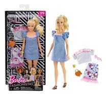 Boneca Barbie Fashionistas 99 Roupas E Acessorios Look Fry79 - Mattel