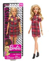 Boneca Barbie Fashionistas  Plaid Dress número 113 - Mattel