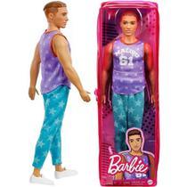 Boneca Barbie - Ken Fashionista Moreno Roxo e Azul DWK44 - Mattel