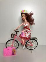 Boneca barbie om bicicleta e acessorios - futuro -