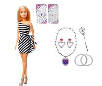 Boneca Barbie Original Clássica 60 anos Loira + Kit Beleza com 6 acessórios -