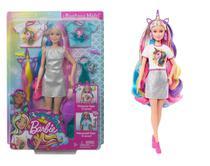 Boneca Barbie Penteados de Fantasia - Coroa de Sereia e Unicórnio - Mattel -
