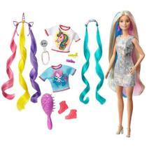 Boneca Barbie Penteados De Fantasia Ghn04 - Mattel -
