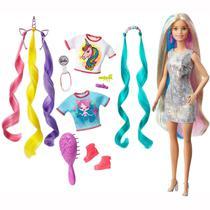 Boneca Barbie Penteados de Fantasia Ghn04 Mattel -