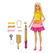 Boneca Barbie Penteados Dos Sonhos Amarelo -