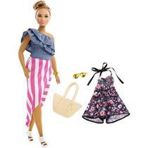 Boneca Barbie Plus Size Curvy Fashionistas Doll Número 102 - Uma Roupa Traje Extra Vestido - Mattel -
