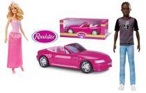 Boneca Barbie Princesa + Boneco Ken 130 Negro C/ Conversível - Mattel