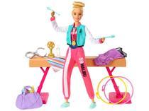 Boneca Barbie Profissões Set Ginasta - com Acessórios Mattel