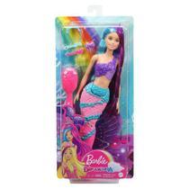 Boneca Barbie Sereia Penteados - Mattel GTF37 -