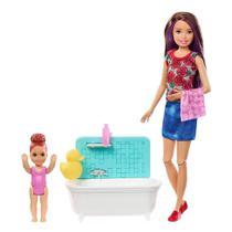Boneca Barbie - Skipper Babysister - Hora do Banho - Mattel -